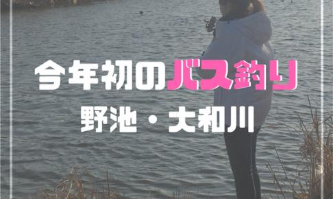 バス釣り 大和川
