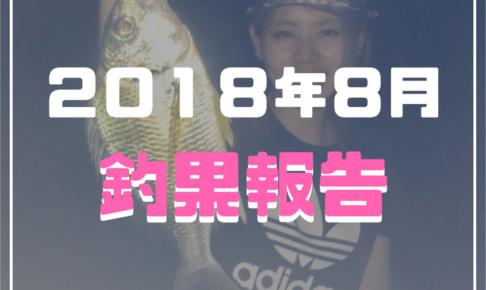 2018年8月釣果報告